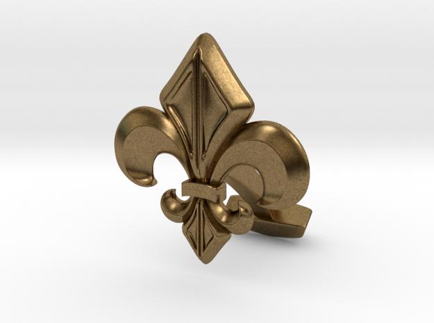 Gothic Cufflink Single Piece in Natural Bronze