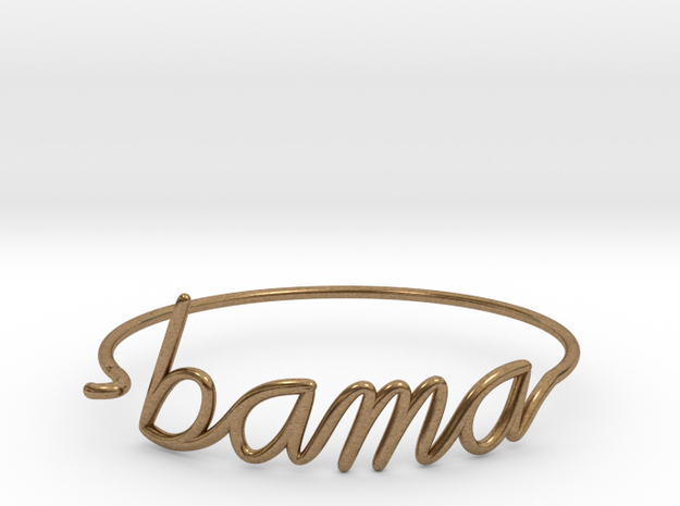 BAMA Wire Bracelet (Alabama) in Raw Brass