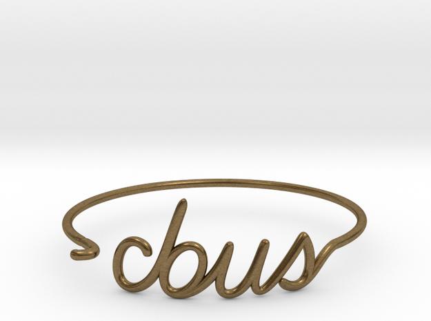 C-BUS Wire Bracelet (Columbus) in Natural Bronze