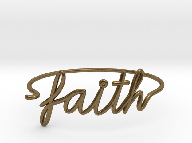 Faith Wire Bracelet in Natural Bronze