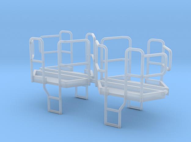 4er Set Plattform für Dreiseitenkipper 1:87 in Smooth Fine Detail Plastic