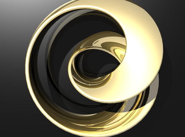 Fantasy-01 in Polished Gold Steel