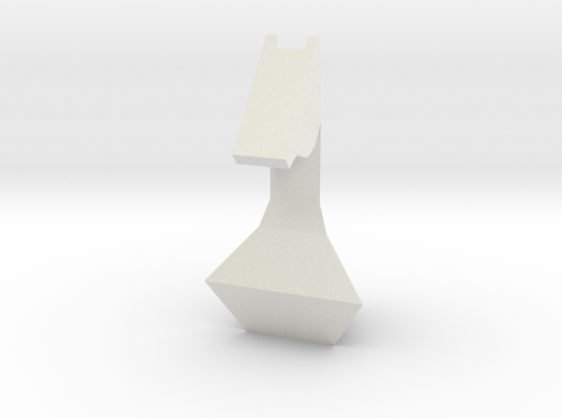 Chess Pawn Horse in White Strong & Flexible