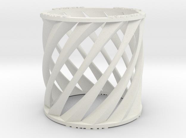 The Rift Ring in White Natural Versatile Plastic