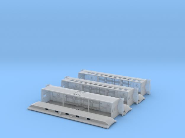 3 car passenger train in Smooth Fine Detail Plastic