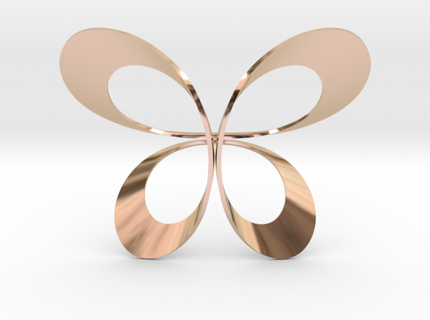 Butterfly Scarf Ring in 14k Rose Gold Plated