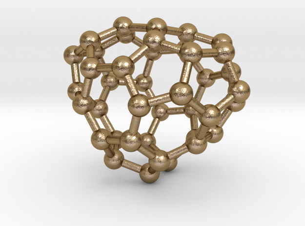 0120 Fullerene C40-14 cs in Polished Gold Steel