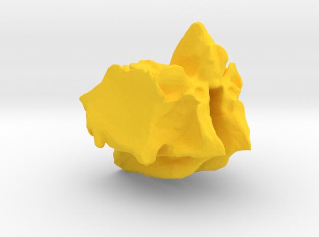Ethmoid Bone of the Cranium in Yellow Processed Versatile Plastic