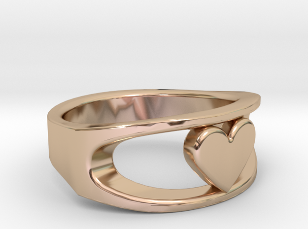 Lite Ring model 2.1 in 14k Rose Gold Plated Brass