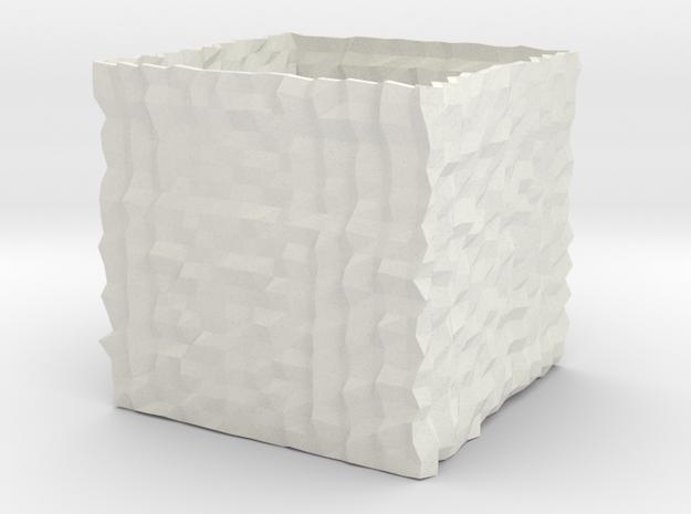 Vase 19 in White Natural Versatile Plastic