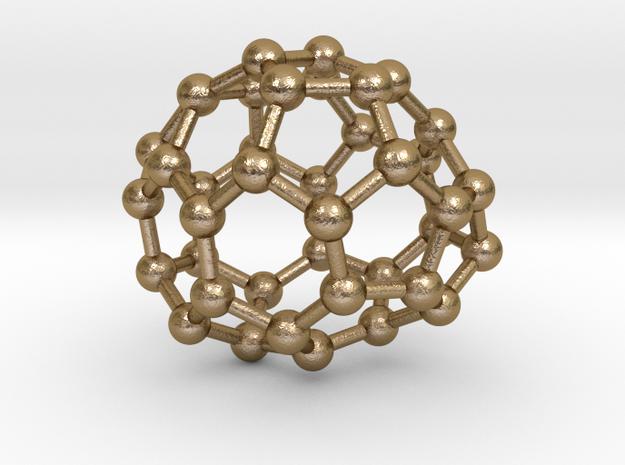 0128 Fullerene C40-22 c1 in Polished Gold Steel