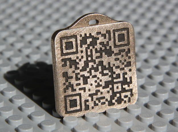 Keychain with Your Own Bitcoin QR code