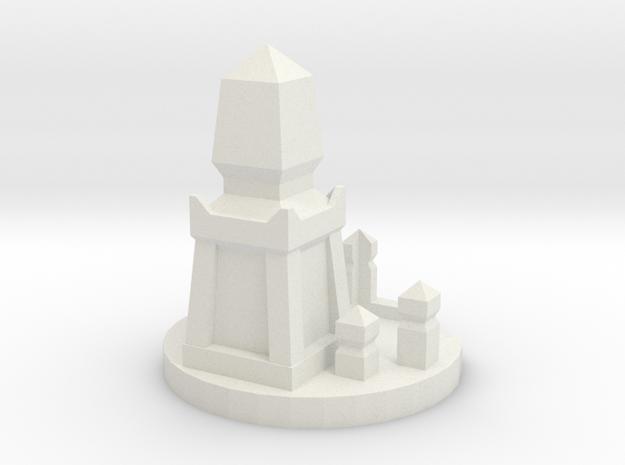 Die Holder Shrine in White Natural Versatile Plastic