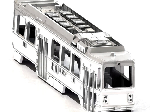 S scale LRV 3d printed