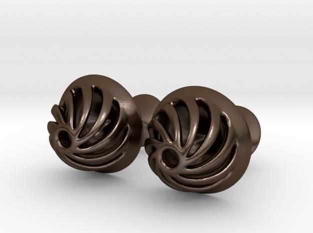 Lavish Cufflinks in Polished Bronze Steel