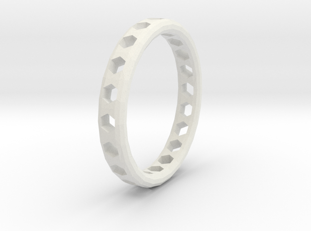 Ring Hexagons in White Strong & Flexible