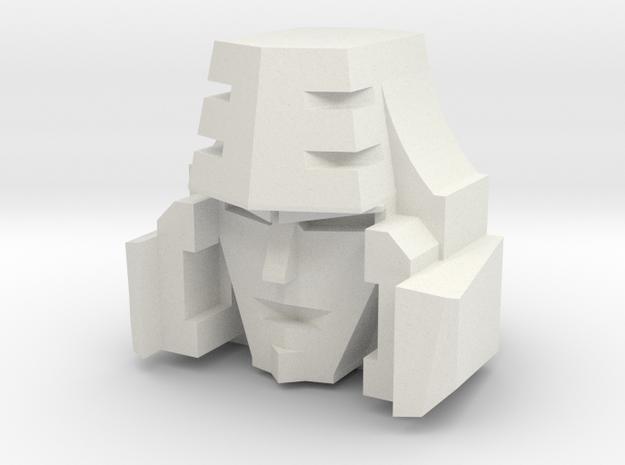 Customatron - Leader Haides - Head in White Natural Versatile Plastic