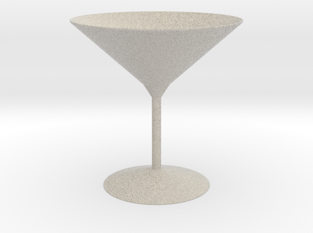 3d printed Martini Glass in Natural Sandstone