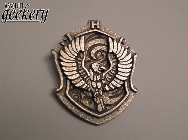 Ravenclaw House Crest - Pendant LARGE in Stainless Steel