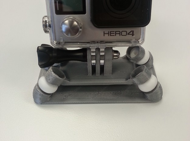 Anti-Vibration GoPro Mount in White Natural Versatile Plastic
