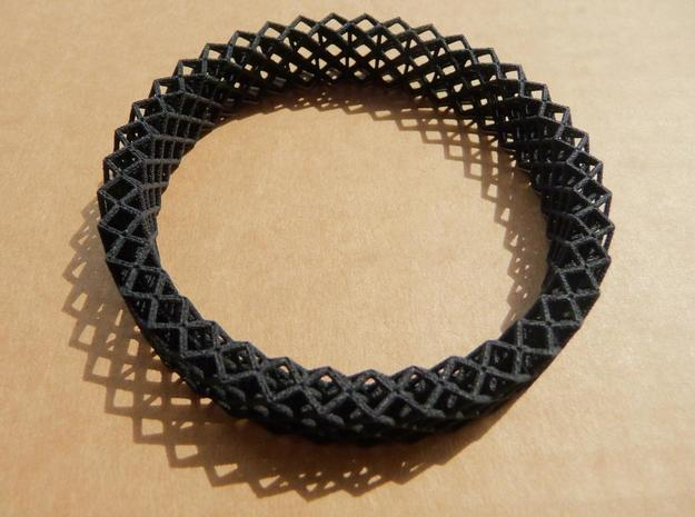 Octet Bangle in Black Natural Versatile Plastic