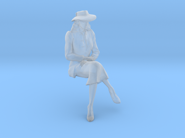 1:32 scale Girl Friday sitting in Smoothest Fine Detail Plastic