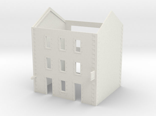 Cafe 2 - 3 Storey - WSF in White Natural Versatile Plastic