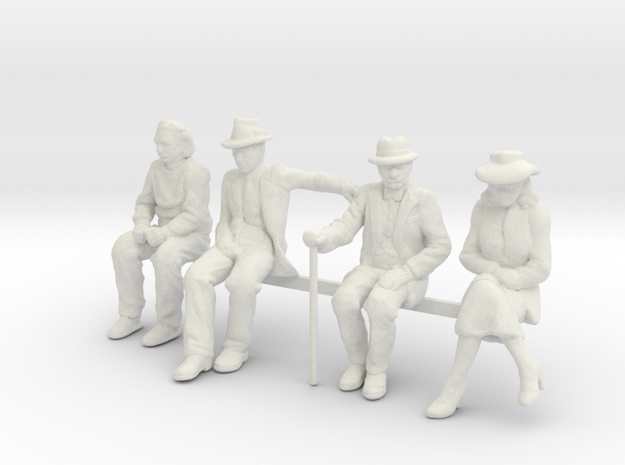 1:29 Low res seated figures in White Natural Versatile Plastic