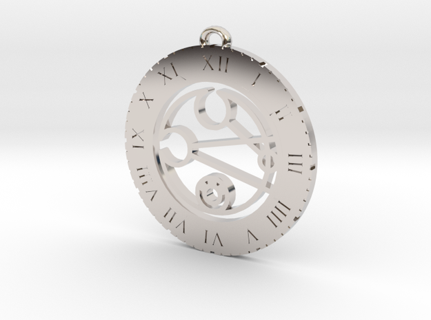 Leigh - Pendant in Rhodium Plated Brass