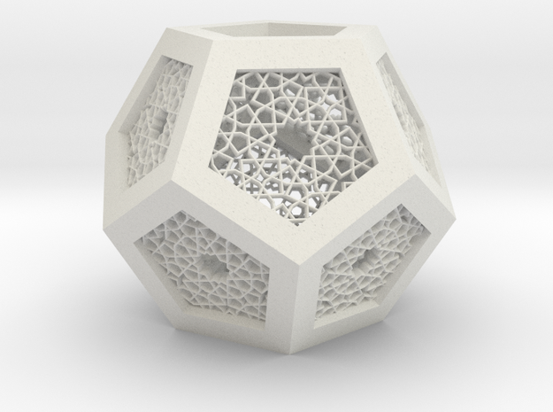 J&M Islamic Inspired Geometric Lamp Shade in White Strong & Flexible