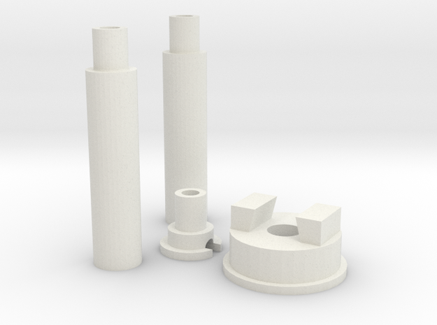 Lamp Parts in White Natural Versatile Plastic