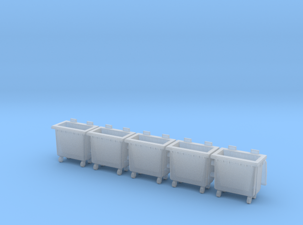 HO scale(1:87) Trash bin with wheels