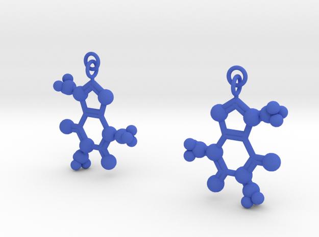 Caffeine Earrings in Blue Processed Versatile Plastic