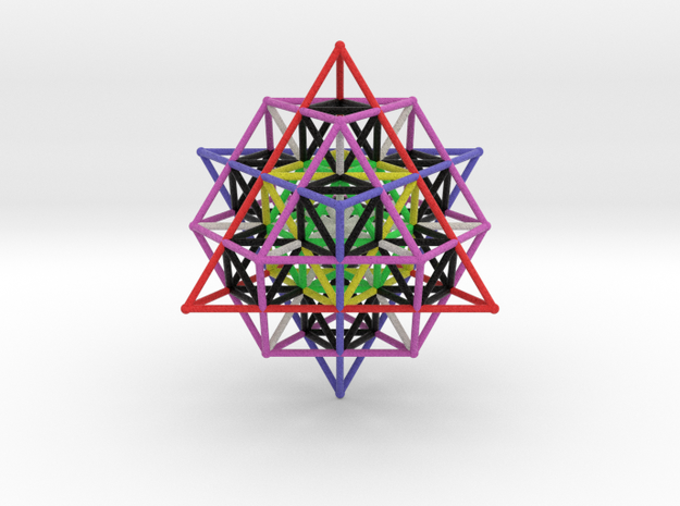 64 Tetrahedron Grid Large Vector Equilibrium 3d printed