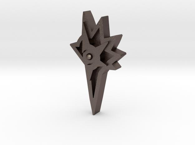 Unova Badge [Legend] in Polished Bronzed Silver Steel