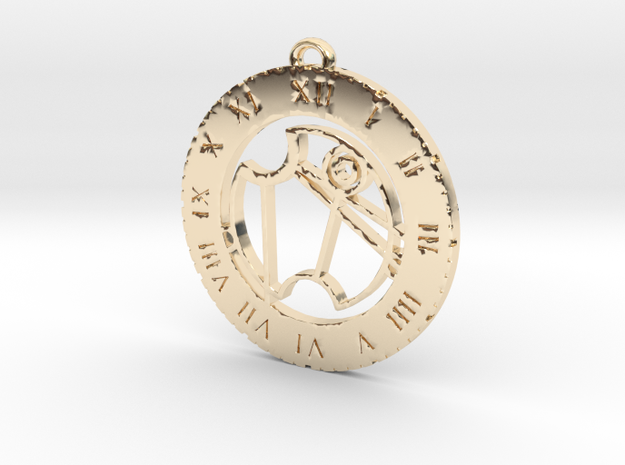 Vanessa - Pendant in 14k Gold Plated Brass
