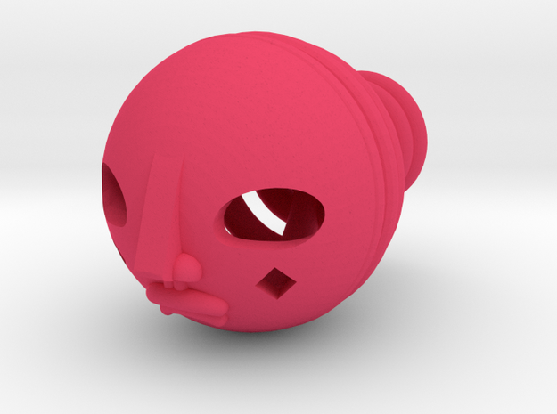 Duke thePoet's Head in Pink Processed Versatile Plastic