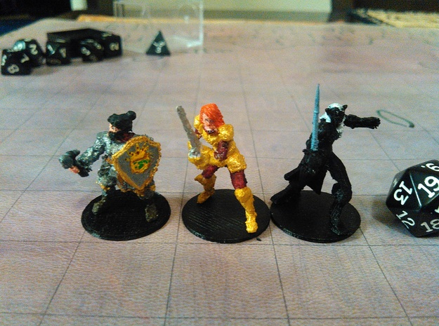 Lady Dwarf Cleric in White Strong & Flexible