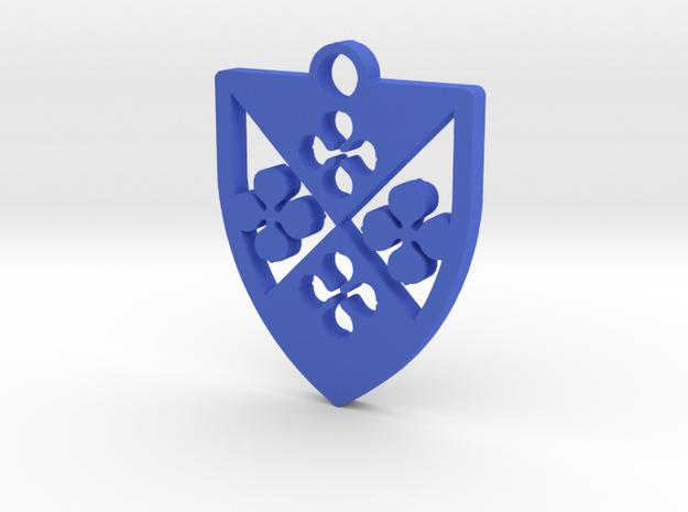Arms of Edine Godin pendant in Blue Processed Versatile Plastic