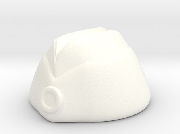 Oversea Cap in White Processed Versatile Plastic