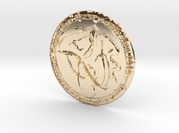Royal Arsillian Commemorrative Dragon Vaar Kronar  in 14K Gold