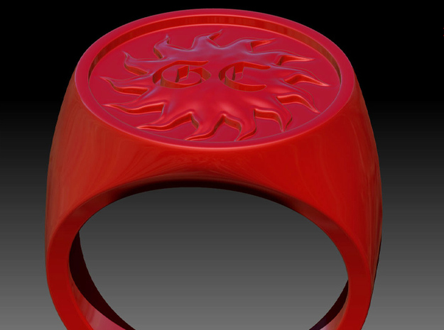 Signet Ring - GC 57 - unique - 3d printed