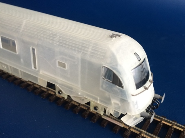 RailJet Steuerwagen_v4 TT 1:120 in Smooth Fine Detail Plastic