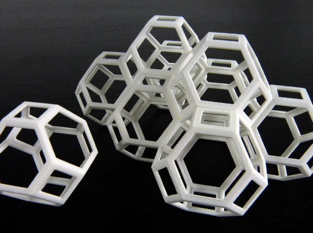 Space filling truncated octahedra in White Natural Versatile Plastic