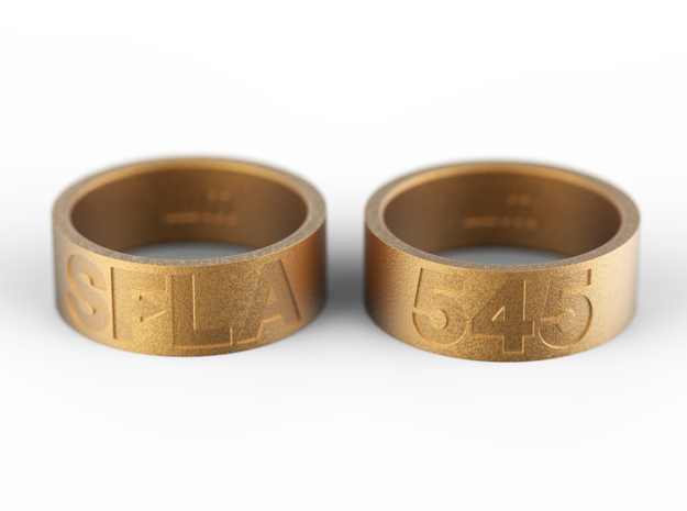 SFLA / 545 (size 7) in Polished Gold Steel