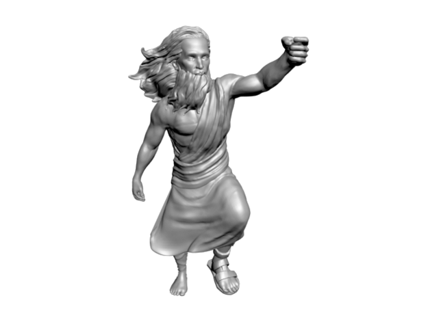 Moses Only Hollowed Out B 3d printed front view - Moses High Relief model