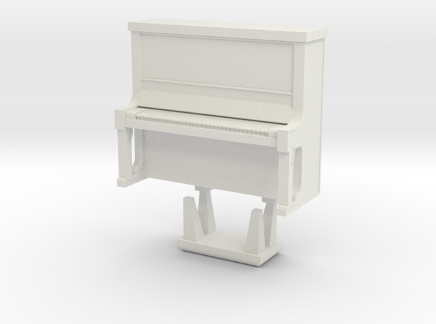 Piano With Bench - HO 87:1 Scale