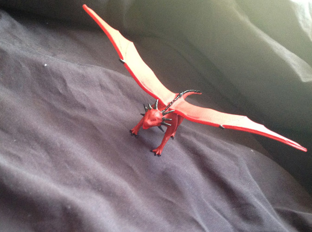 Red Dragon 3d printed A painted example