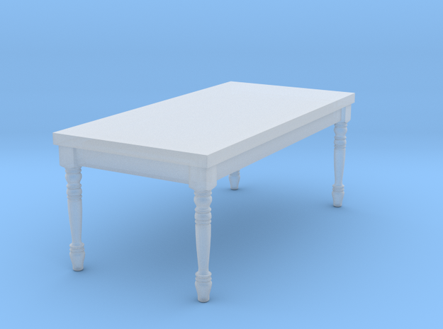 1:144 Micro Scale French Country Dining Table 1