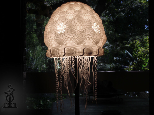 Jellyfish lampshade top : part A in White Natural Versatile Plastic